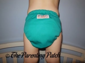 Back of Smart Bottoms Spicy Tuna Smart One 3.0 on Toddler