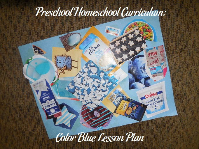 Preschool Homeschool Curriculum Color Blue Lesson Plan