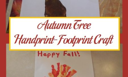 Autumn Tree Handprint-Footprint Craft