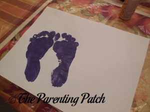 Two Purple Footprints