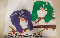 Autumn Halloween Owl Footprint Craft