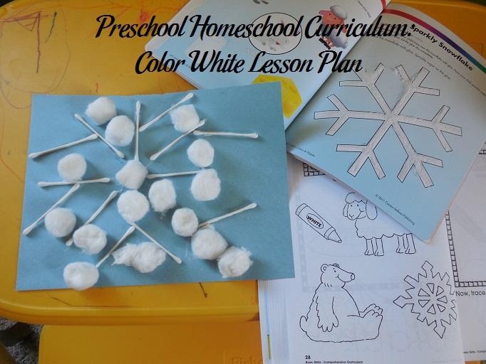 Cotton Swab and Cotton Ball Snowflake