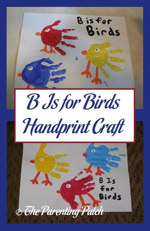 B Is for Birds Handprint Craft