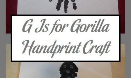 G Is for Gorilla Handprint Craft