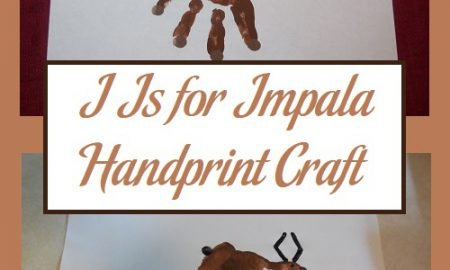 I Is for Impala Handprint Craft