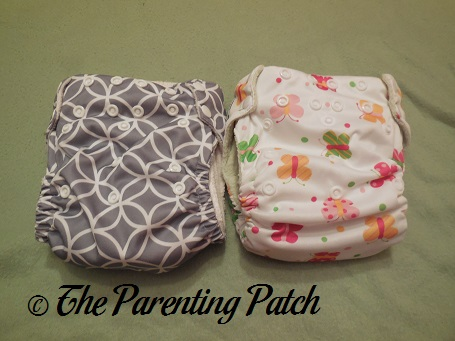 Front of Imagine One-Size Stay-Dry and Imagine One-Size Bamboo All-in-One Cloth Diapers