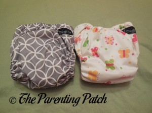 Back of Imagine One-Size Stay-Dry and Imagine One-Size Bamboo All-in-One Cloth Diapers