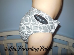 Side of Imagine One-Size Stay-Dry All-in-One Cloth Diaper on Toddler