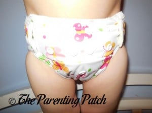 Front of Imagine One-Size Bamboo All-in-One Cloth Diaper on Toddler 2