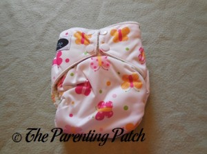 Front of Imagine One-Size Bamboo All-in-One Cloth Diaper