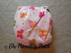 Back of Imagine One-Size Bamboo All-in-One Cloth Diaper