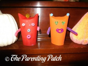 Displaying the Halloween Monster Toilet Paper Roll Craft