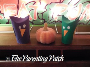 Displaying the Halloween Owl Toilet Paper Roll Craft