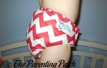 Candy Cane Chevron Nicki's Diapers One-Size Bamboo All-in-One: Daily Diaper