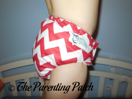 Candy Cane Chevron Nicki's Diapers One-Size Bamboo All-in-One Cloth Diaper 8