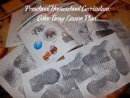 Preschool Homeschool Curriculum: Color Gray Lesson Plan