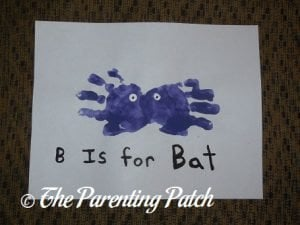 B Is for Bat Handprint Craft 2