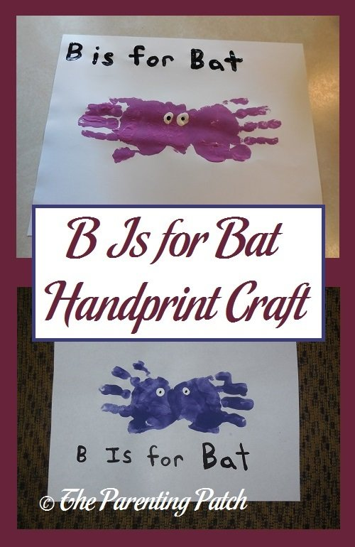 B Is for Bat Handprint Craft