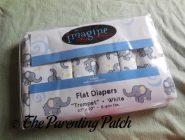 Imagine Birdseye Printed Flat Diapers in Package