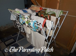 Air Drying Cloth Diaper Laundry