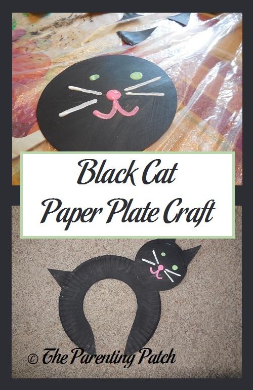 & Black Cat Paper Plate Craft | Parenting Patch