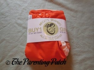 Front of Dreamsicle Nicki's Diapers One-Size Bamboo All-in-One Cloth Diaper in Packaging