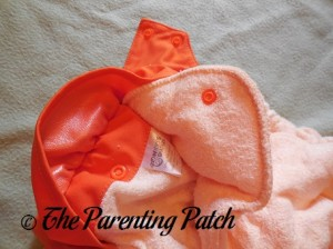 Soaker of Dreamsicle Nicki's Diapers One-Size Bamboo All-in-One Cloth Diaper