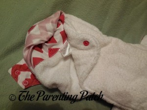 Soaker of Candy Cane Chevron Nicki's Diapers One-Size Bamboo All-in-One Cloth Diaper