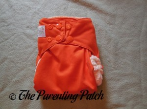 Front of Dreamsicle Nicki's Diapers One-Size Bamboo All-in-One Cloth Diaper