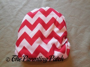 Back of Candy Cane Chevron Nicki's Diapers One-Size Bamboo All-in-One Cloth Diaper