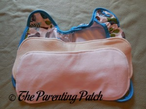 Inserts and Cover of Borrowed Planet All-in-Two Cloth Diaper