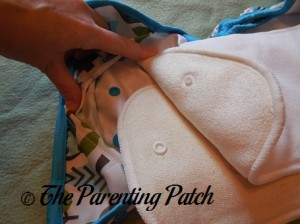 Snaps on Inserts of Borrowed Planet All-in-Two Cloth Diaper