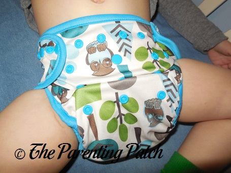 Front of Borrowed Planet All-in-Two Cloth Diaper on Toddler 1