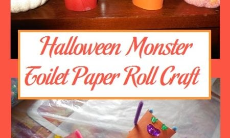 Halloween Monster Toilet Paper Roll Craft