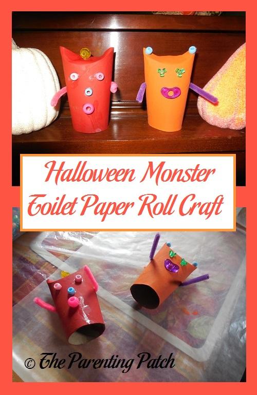 Halloween Monster Toilet Paper Roll Craft