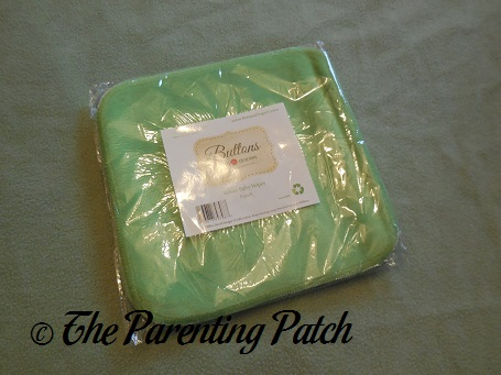 Package of Buttons Diapers Velour Baby Wipes