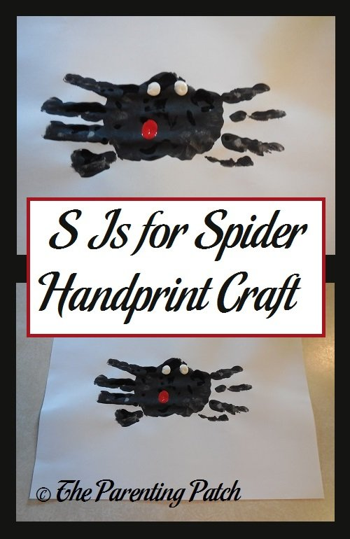 S Is for Spider Handprint Craft