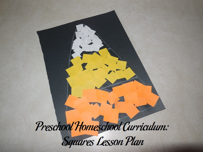 Preschool Homeschool Curriculum: Squares Lesson Plan