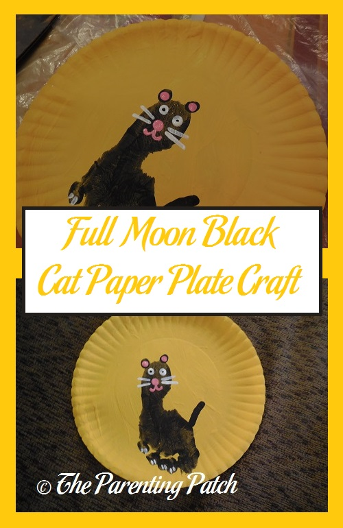 Full Moon Black Cat Paper Plate Craft