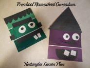 Preschool Homeschool Curriculum: Rectangles Lesson Plan