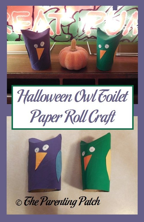 Halloween Owl Toilet Paper Roll Craft