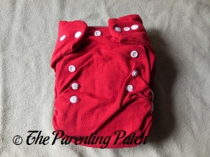 Red StorkStopover Fitted Pocket Cloth Diaper 1