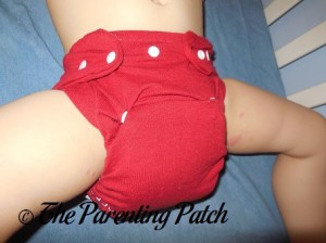 Red StorkStopover Fitted Pocket Cloth Diaper 4