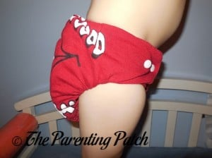 Red StorkStopover Fitted Pocket Cloth Diaper 8