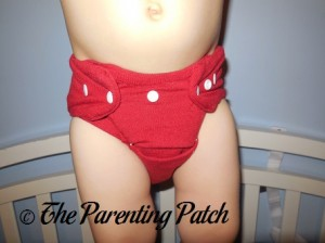 Red StorkStopover Fitted Pocket Cloth Diaper 9