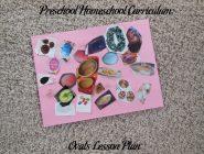 Preschool Homeschool Curriculum: Ovals Lesson Plan
