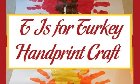 T Is for Turkey Handprint Craft