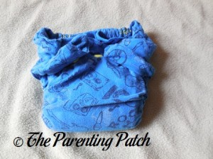 Front of StorkStopover Upcycled Newborn Fitted Pocket Cloth Diaper