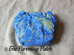 Back of StorkStopover Upcycled Newborn Fitted Pocket Cloth Diaper