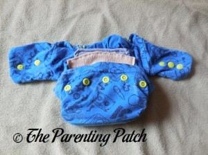Snaps of StorkStopover Upcycled Newborn Fitted Pocket Cloth Diaper 1